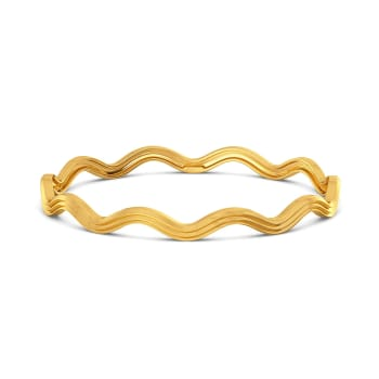 Triple Ripple Gold Bangles