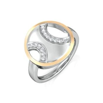 Opposite Arcs Diamond Rings