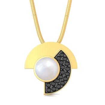 Cubist Circle Diamond Pendants