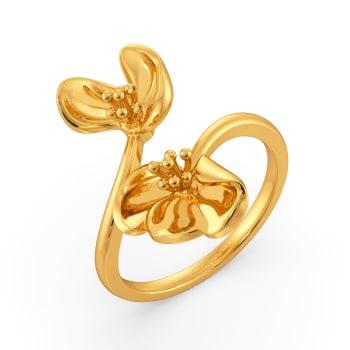 Poppy Prairie Gold Rings