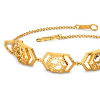 Tweed Breed Gold Bracelets