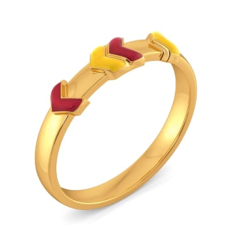 League Intrigue Gold Rings