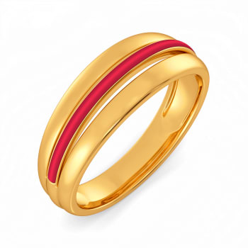 Play it Preppy  Gold Rings