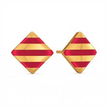 Maroon Major Gold Earrings
