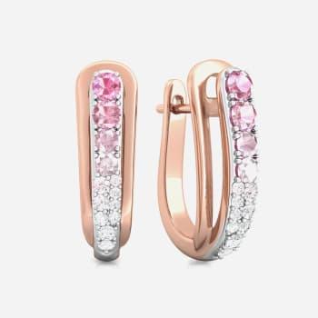 Pink Gouache Diamond Earrings