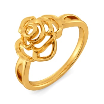 Blooming Florals Gold Rings