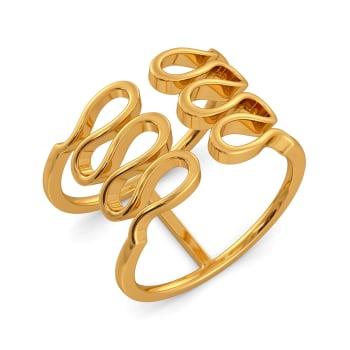 Knit Lit Gold Rings