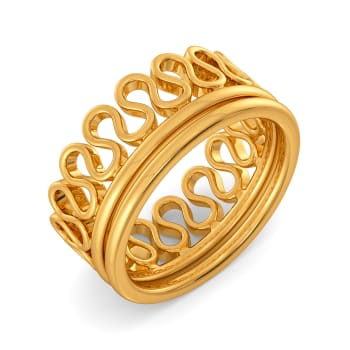Knit Me Knot Gold Rings