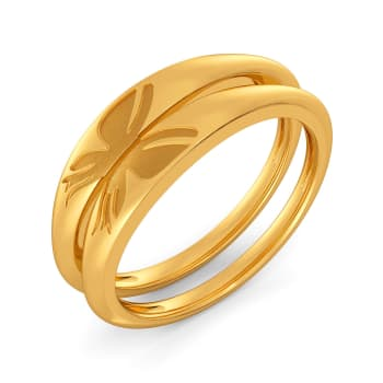 Etched Organic Gold Rings