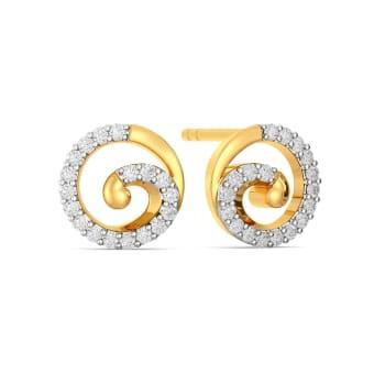 Sea Scallops Diamond Earrings