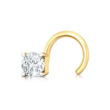 One Love Diamond Nose Pins