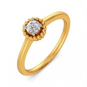 Floral Fission Diamond Rings