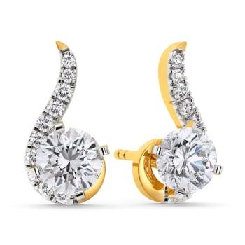 Twinkle Twirls Diamond Earrings