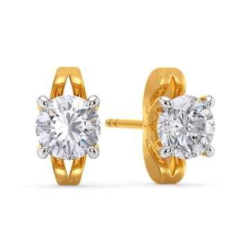 The Poised Path Diamond Earrings