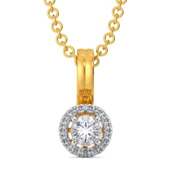 Poised Spheres Diamond Pendants
