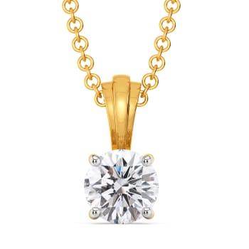 Shimmer Suave Diamond Pendants