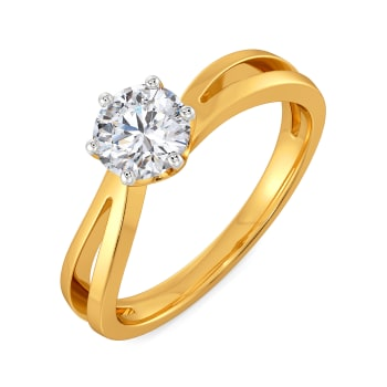 Curvy Crowns Diamond Rings