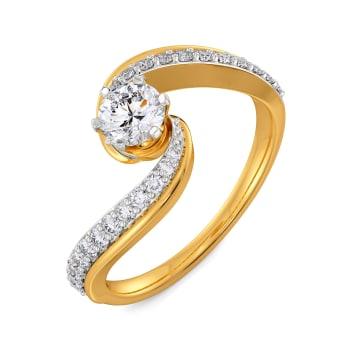Arc of Affection Diamond Rings