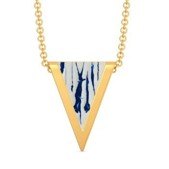 Blue Shibori Gold Pendants
