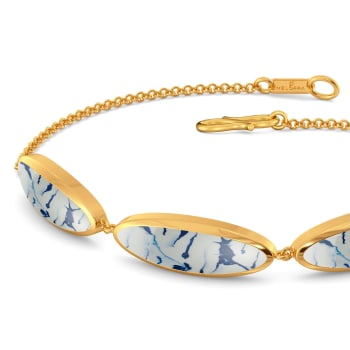 Of Blue Dyes Gold Bracelets