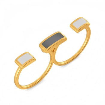 Vision Grey Gold Rings