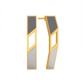 Power Grey Gold Earrings
