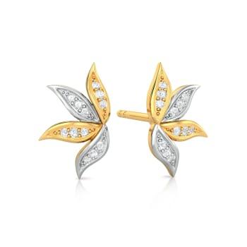 Tropical Artsy Diamond Earrings