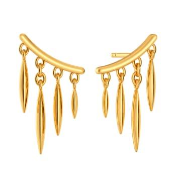 The Lens Prance Gold Earrings