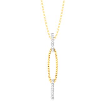 Ellipsia Diamond Pendants