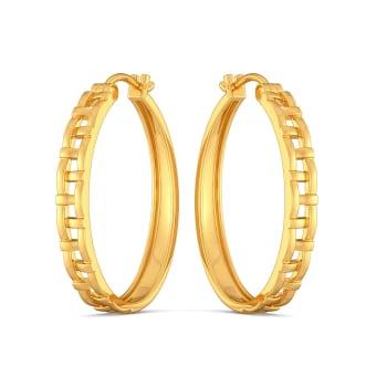 Basket Knits Gold Earrings