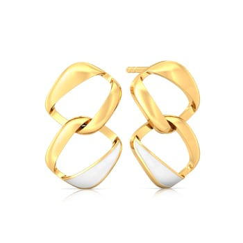 White-Out Gold Earrings