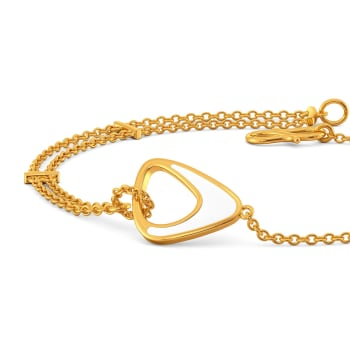 Little White Love Gold Bracelets