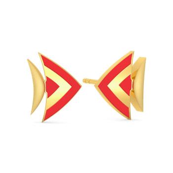Water wonder Gold Earrings