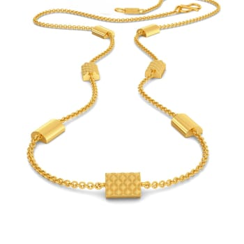 The Mamba Maze Gold Necklaces