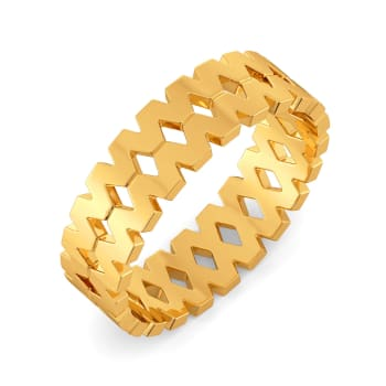 Supersized Volume Gold Rings