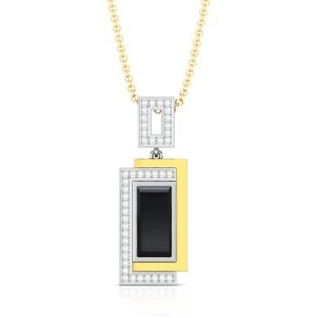 Little Black Onyx Diamond Pendants