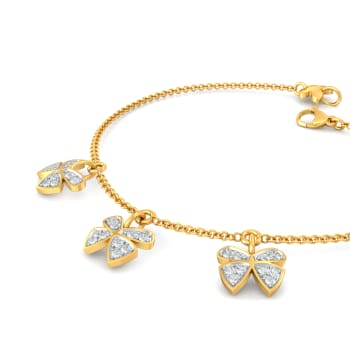 Open Wings Diamond Bracelets