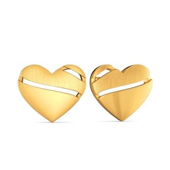 Heart Poise Gold Earrings