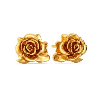 Roses N Thorns Gold Earrings