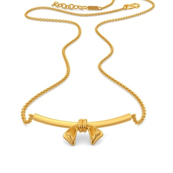 Saint Bows Gold Necklaces