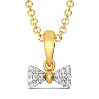Sole Bow Diamond Pendants