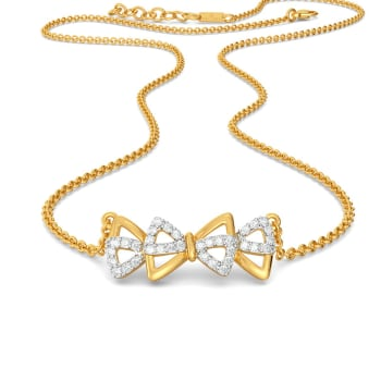 Bow Wrap Diamond Necklaces