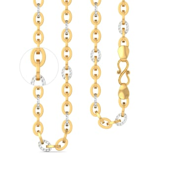 22k Two tone Mega sized cable link  Gold Chains