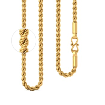 22kt Twisted Rope Chain Gold Chains