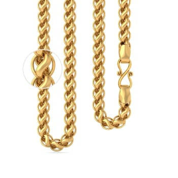 22kt Stylised Gold Link Chain Gold Chains