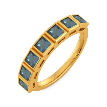 Blue Blocks Gemstone Rings