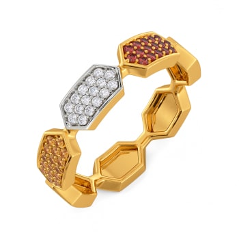 Colour Crowd Gemstone Rings