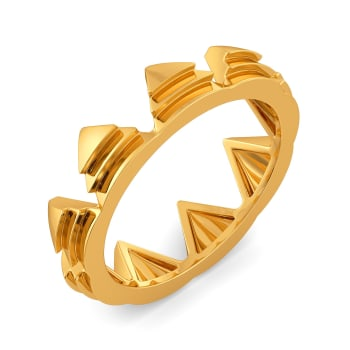 Triangle Ties Gold Rings