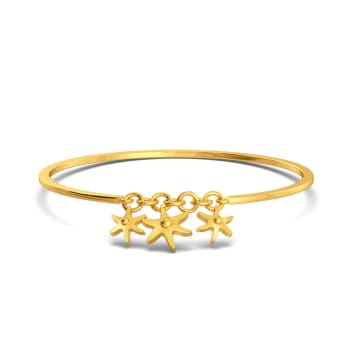 Star Shell Gold Bangles