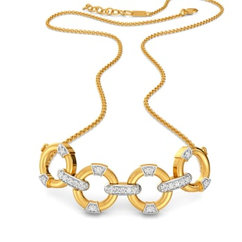 Four Floats Diamond Necklaces
